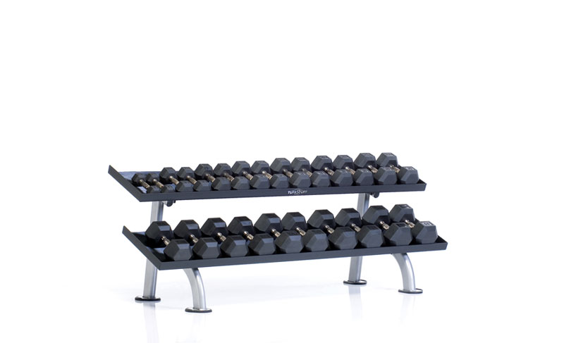 tuff stuff, linea ppf, 2 tier tray dumbbell rack, ppf752t, ulama sports